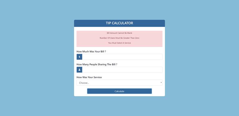Tip Form JavaScript Project