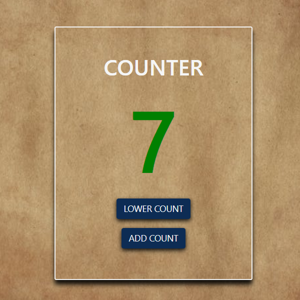 counter javascript project