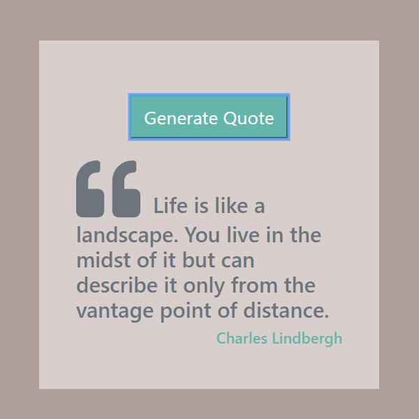 Random Quotes JavaScript Project - JSBeginners
