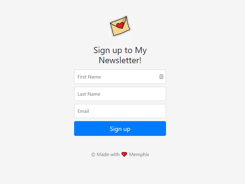 javascript-newsletter-project