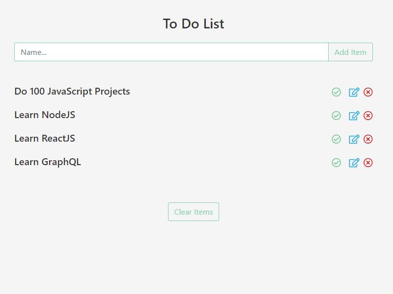 todo list javascript project