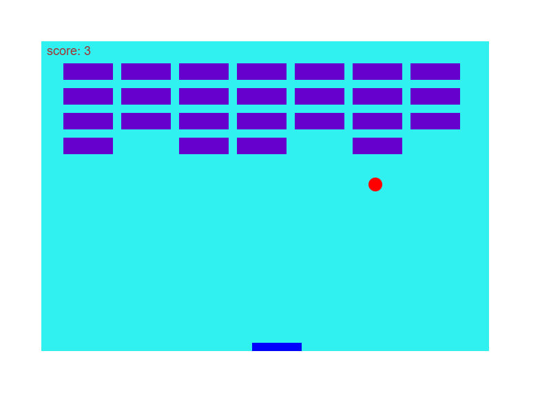 JavaScript 2D Brick Breaker Game