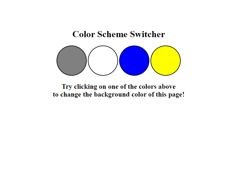 JavaScript Background Color Switcher
