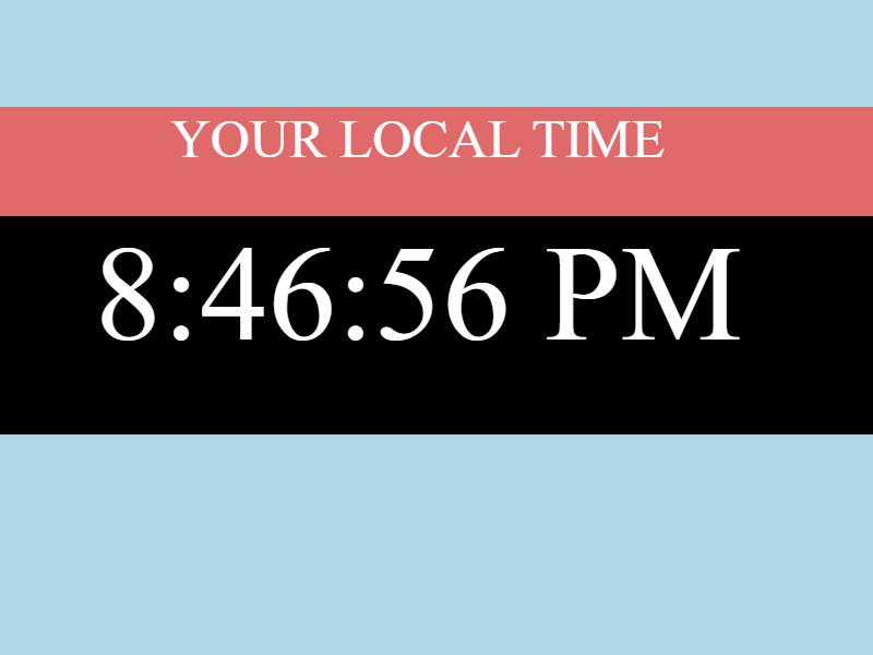 javascript digital clock