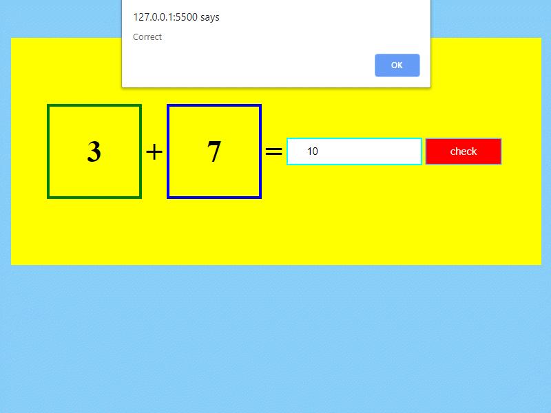 math addition app project