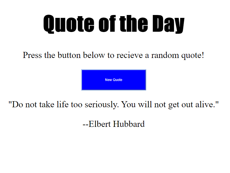 quotes generator javascript project pic