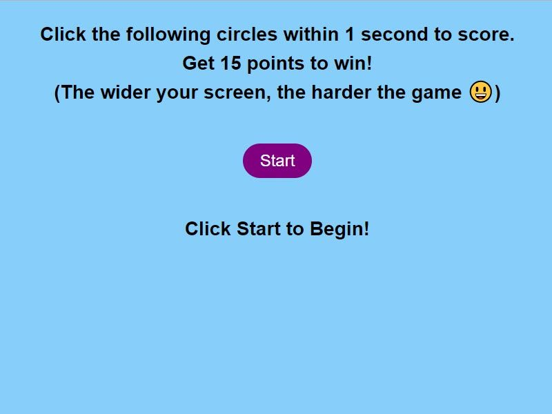Circle Click JavaScript Game