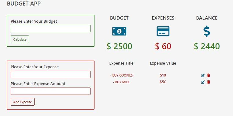JavaScript OOP Budget App