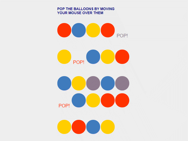 javascript balloon popping project