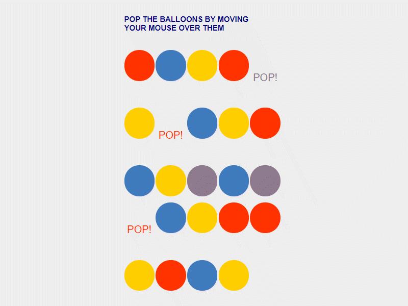 javascript balloon popping project